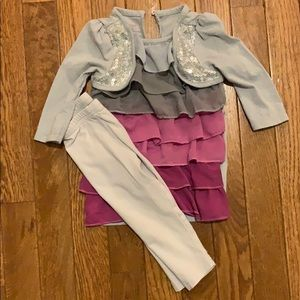 girls 2 piece outfit 6-9 months piper top sequins